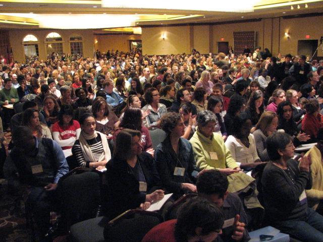 Gathering for keynote address